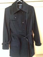 Ladies 'Mexx' black wool/cashmere 3/4 length coat size 12